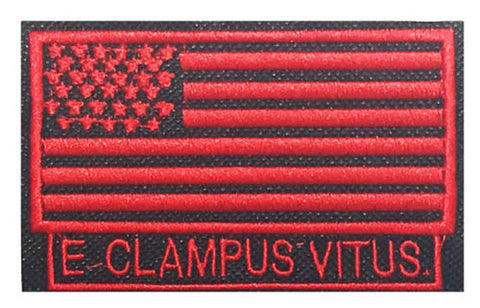 3 1/2 in ECV American Flag Patch in Red