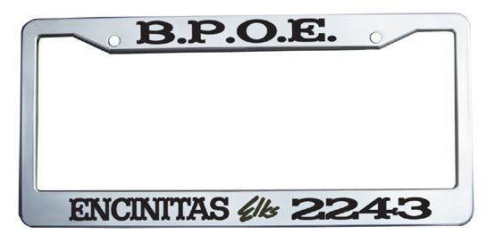 Elks Custom License Plate Frame