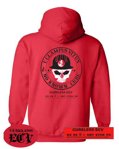 Sweatshirt Hooded Pullover No Known Cure Miner