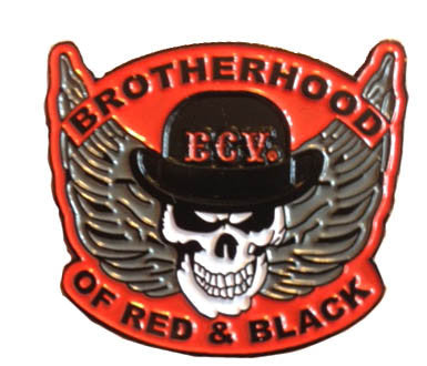 Brotherhood of Red and Black Pin