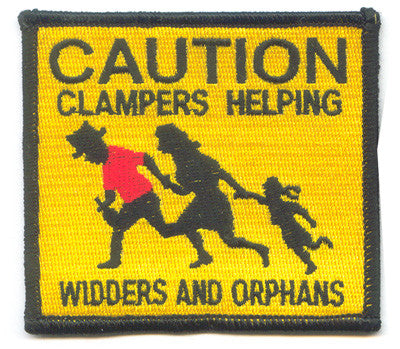 3 Inch Clamper Helping Widders and Orphans Patch