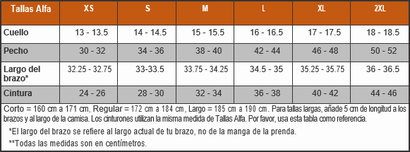 Tabla de tallas risk tactical - Cinturones a medida ...