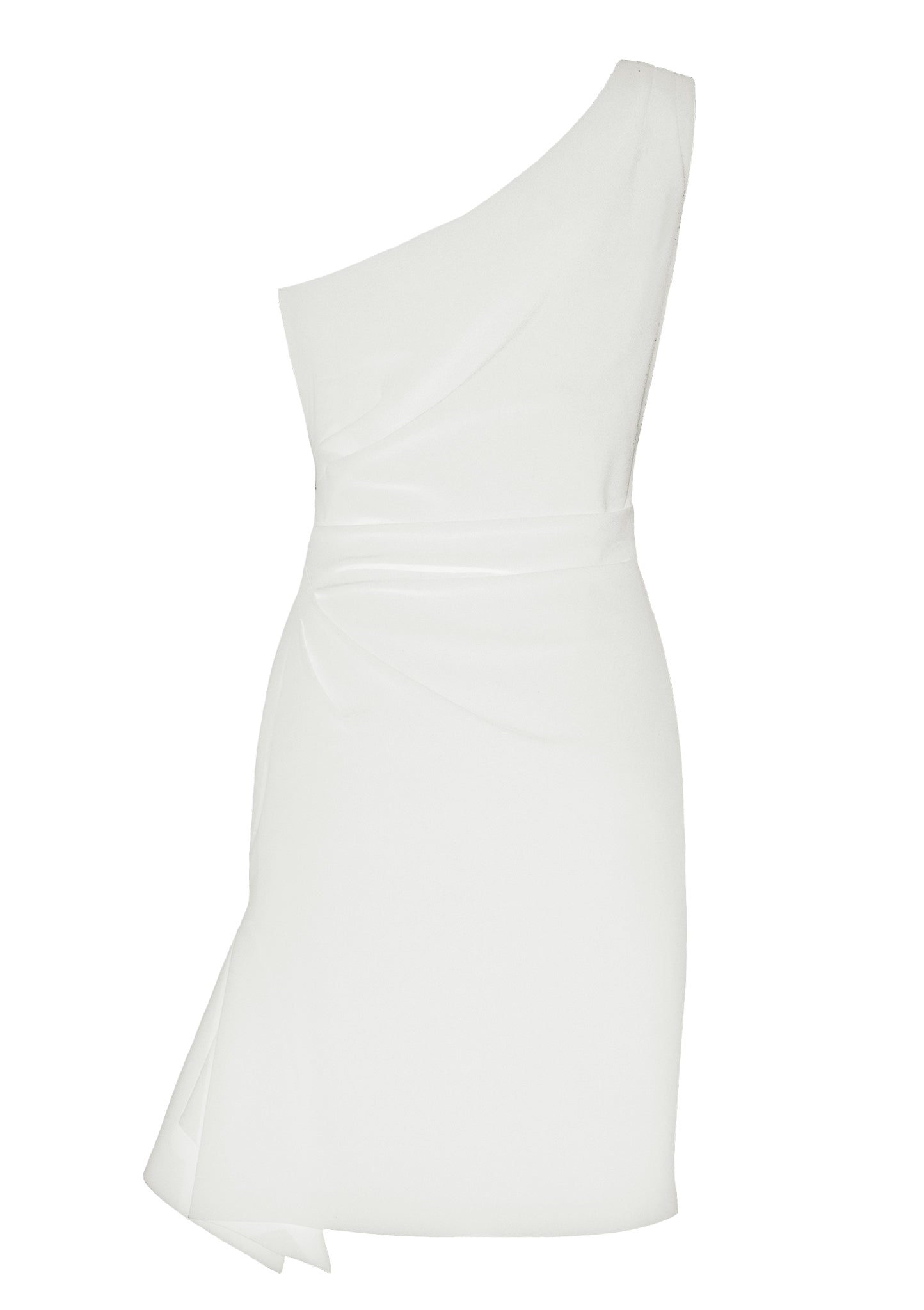 Carmen White Stretch Cady Dress - HEMYCA London