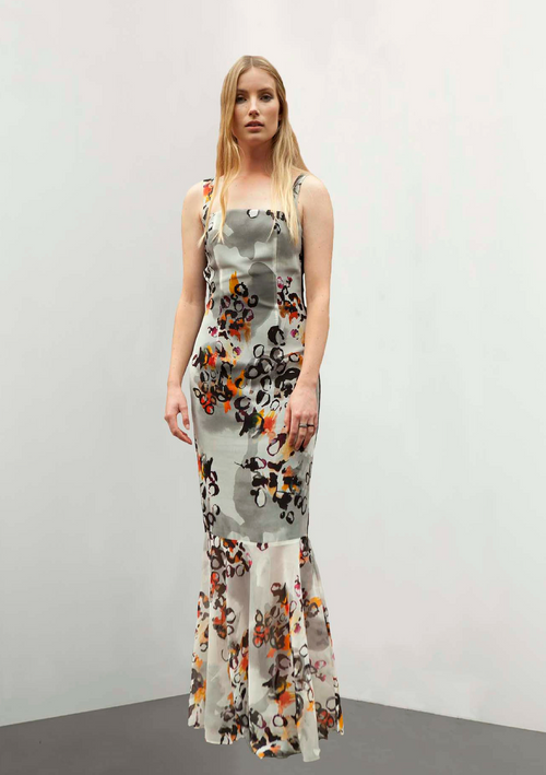 Daphne Printed Gown - HEMYCA London