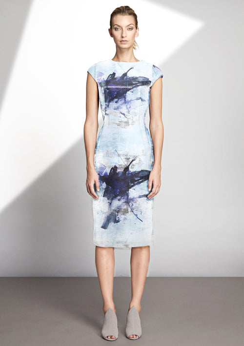 Dita Zinco Jacquard Dress - HEMYCA London
