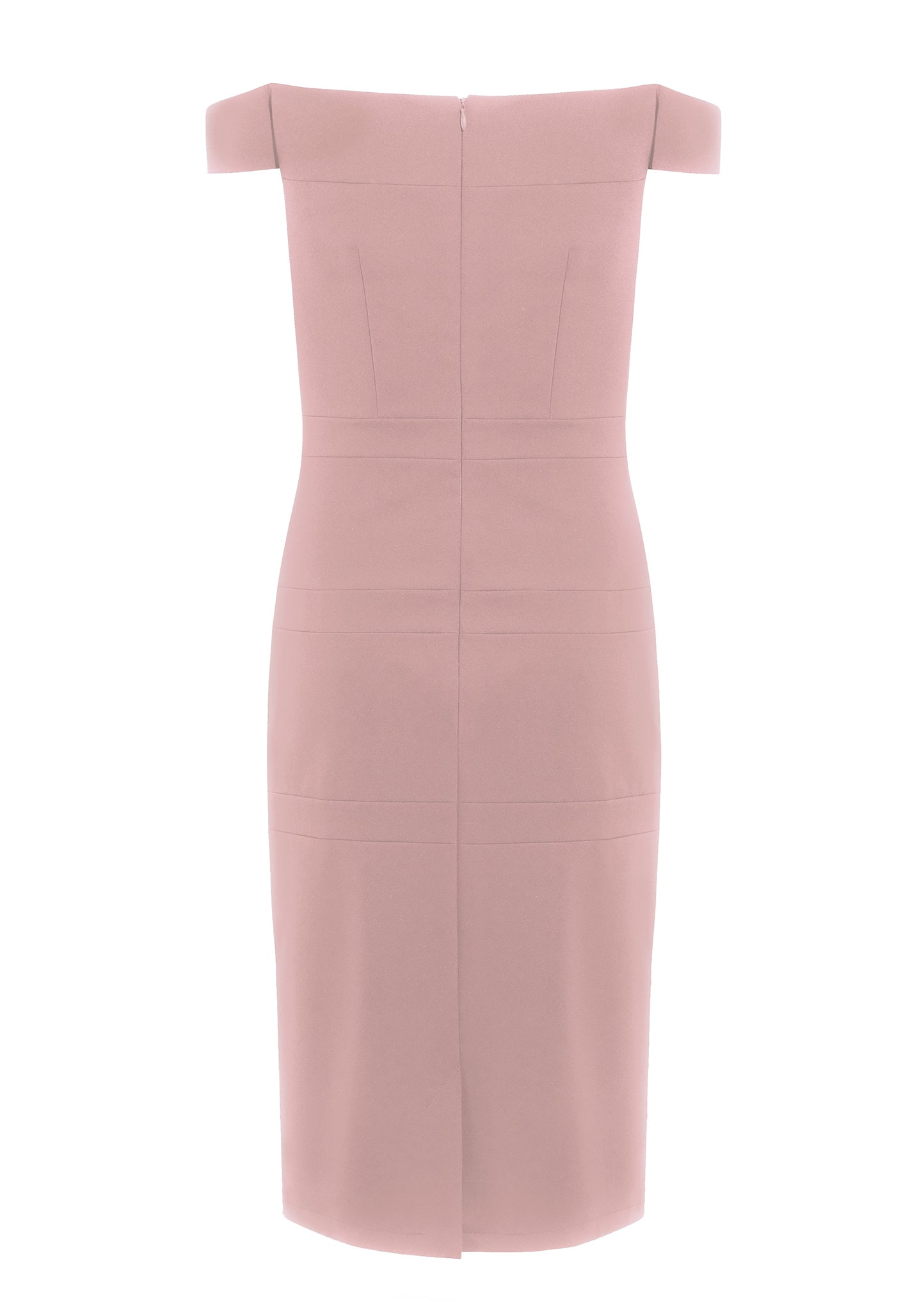 Emilie Blush Pink Stretch Cady Dress - HEMYCA London