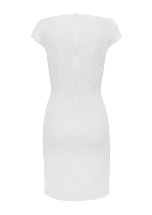 Dita White Dress - HEMYCA London
