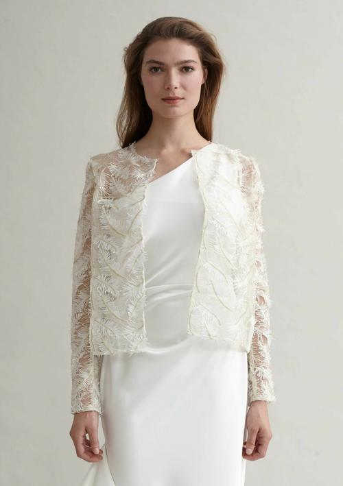 White and gold, delicate lace cover-up