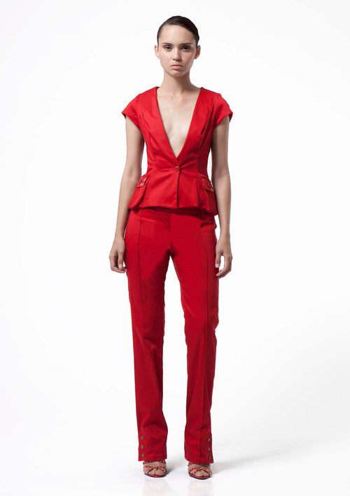 Gaby Red Trousers - HEMYCA London