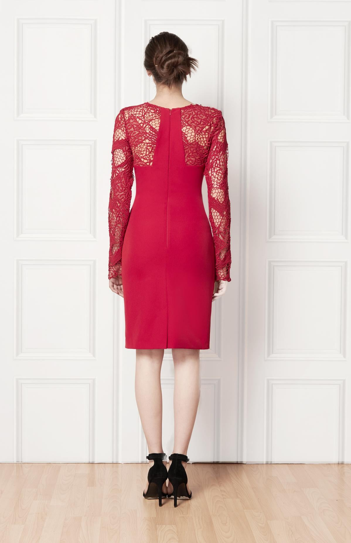 Mirielle Red Dress - HEMYCA London