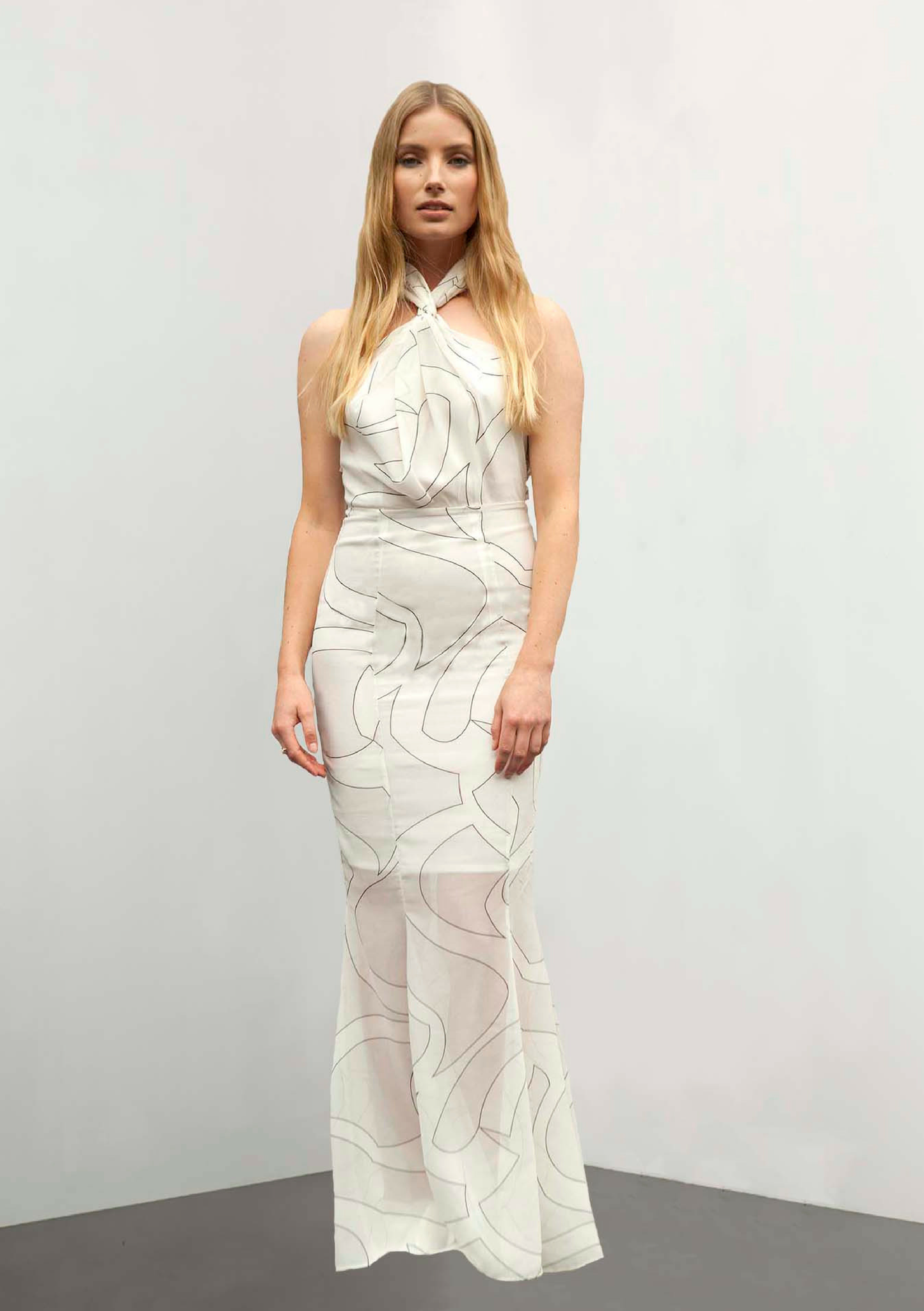 Peony White Gown - HEMYCA London