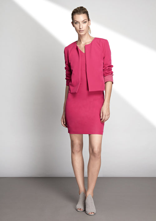 Ida Pink Collarless Jacket