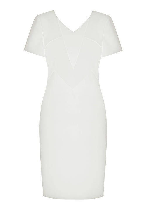 Ruby White Stretch Dress - HEMYCA London