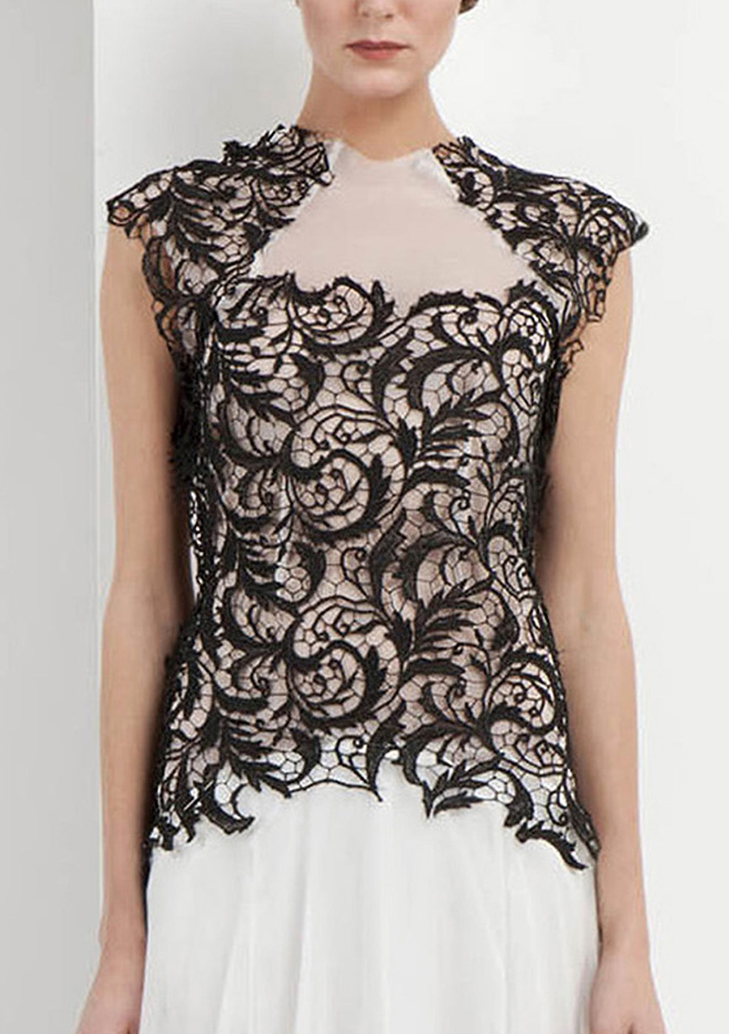 Tatania Lace & Georgette Dress - HEMYCA London