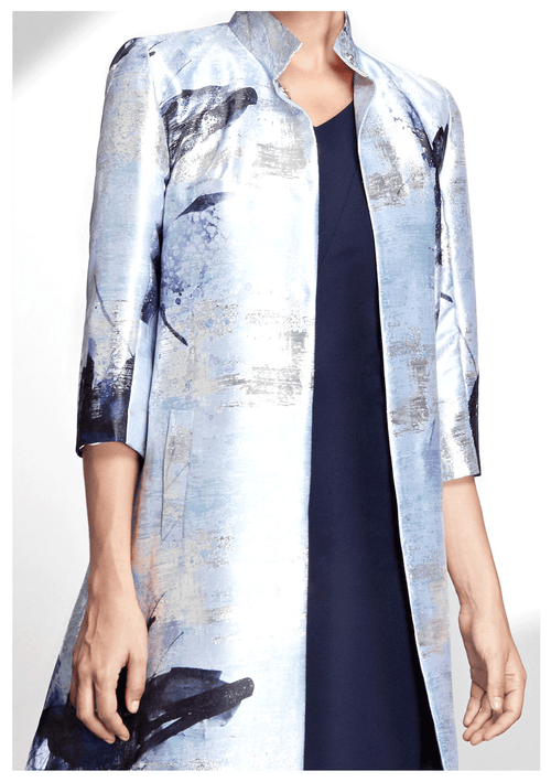 Mary Lurex Jacquard Coat - HEMYCA London