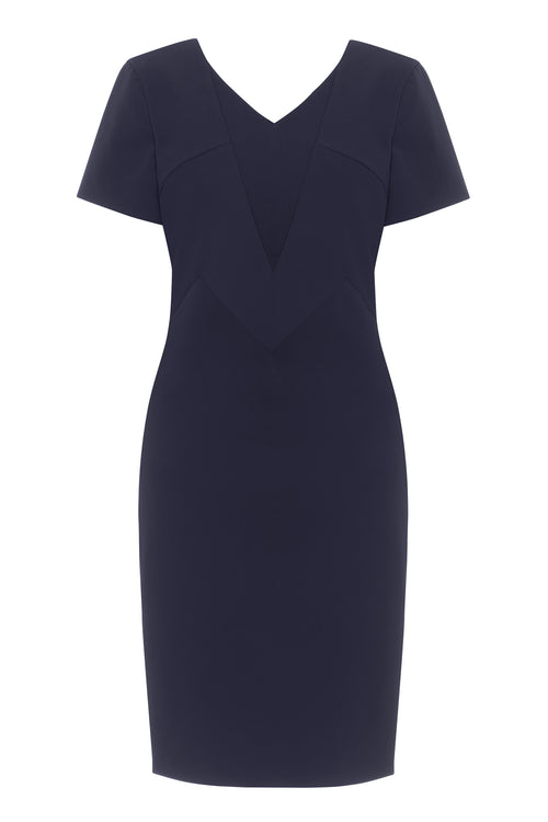 Ruby Stretch Cady Dress - HEMYCA London