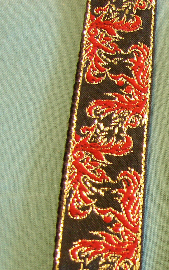 Red & Black Asian Leash