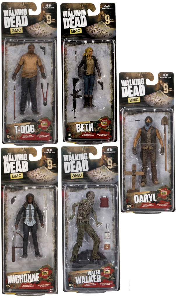 mcfarlane walking dead series 9 figures meaning of colors