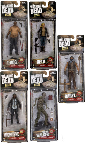 McFarlane Walking Dead TV Series 9 Set of 5 Action Figures