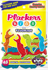 Plackers - Kids - Dental Flossers with Flouride 48 Count