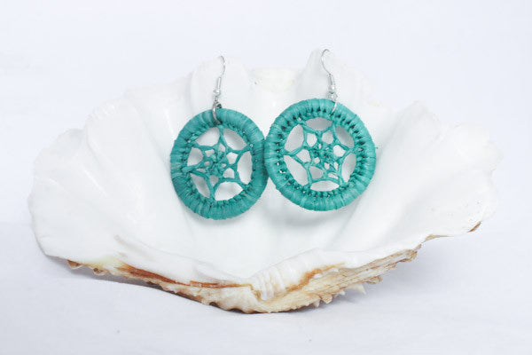 Woven Raffia Earrings