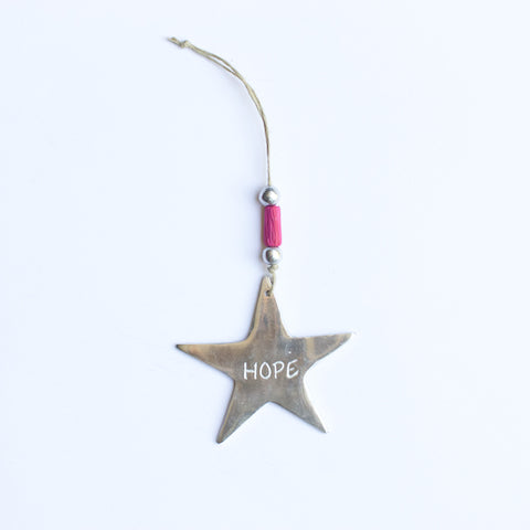 Aluminum HOPE Ornament