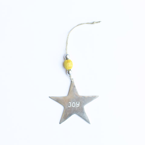 Aluminum JOY Ornament