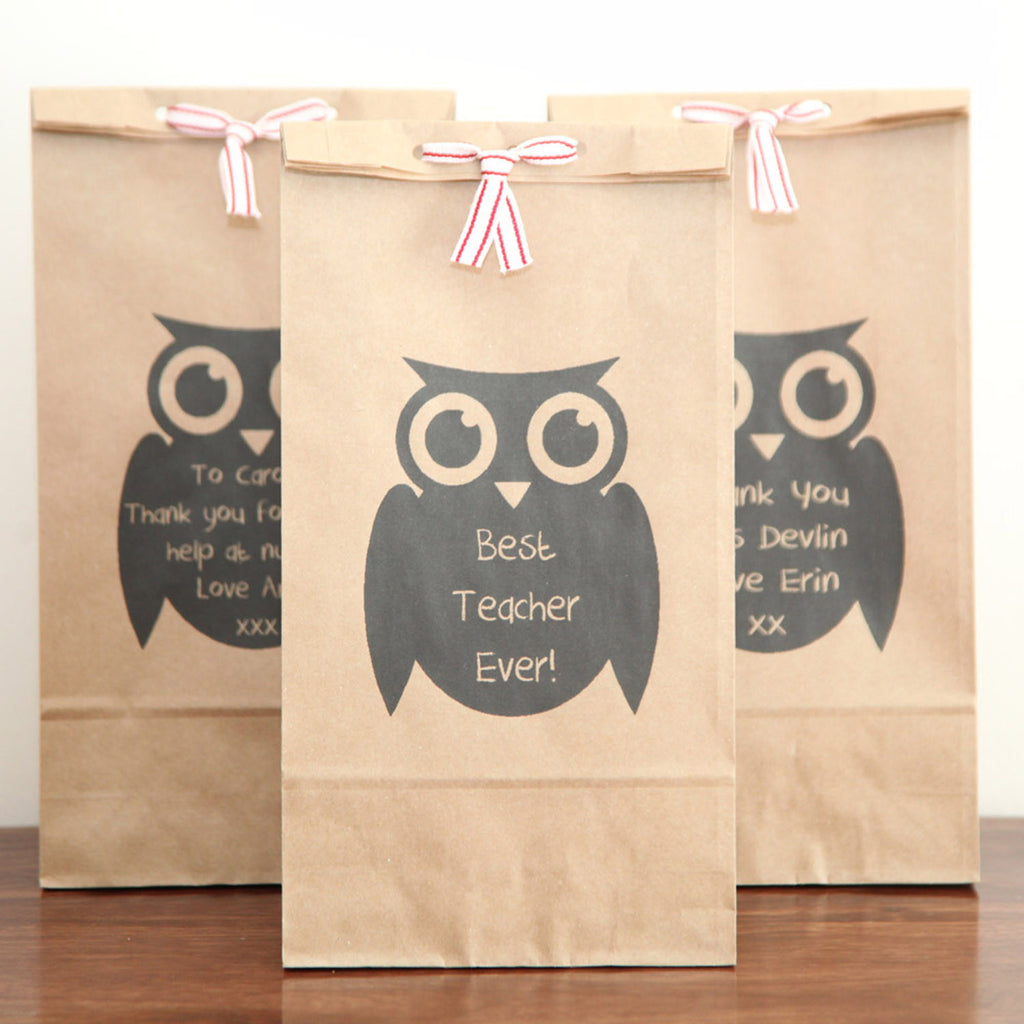 Personalised Thank You Owl Gift Bag