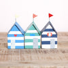 Striped Coastal Beach Hut Freestanding Decoration