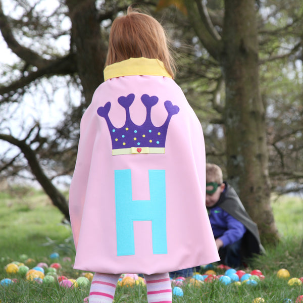 Personalised Princess Crown Dressing up cape