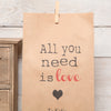 Personalised 'All You Need Is Love' Gift Bag