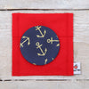 Nautical Anchor Fabric Handbag Mirror
