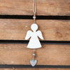 White Wooden Angel Christmas Tree Decoration