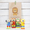Three Animal Toys With Personalised Gift Bag