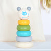 Wooden Bear Stacking Toy With Personalised Bag