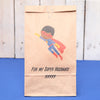 Personalised Flying Superhero Valentine's Bag