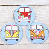 Camper Van Handbag Mirror With Pouch