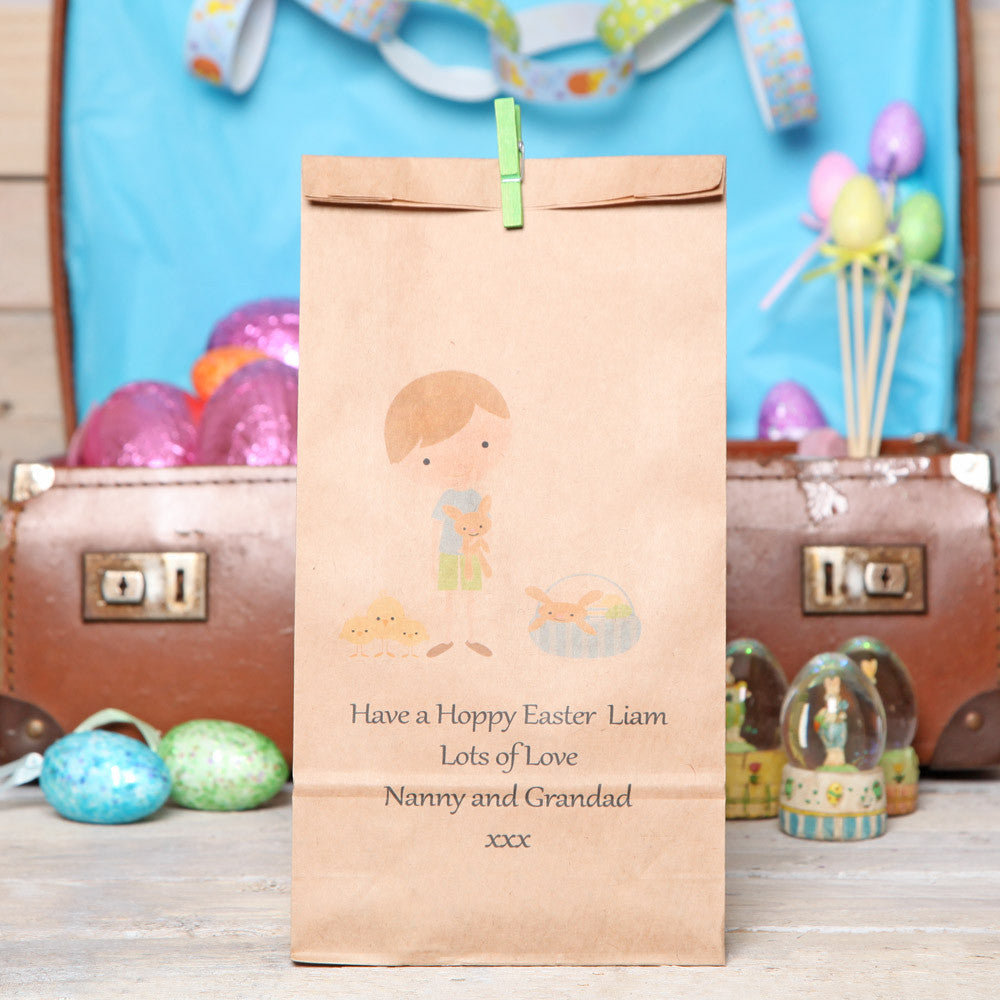 Personalised Boy's Easter Gift Bag