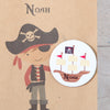 Personalised Boy Pirate Party Bags