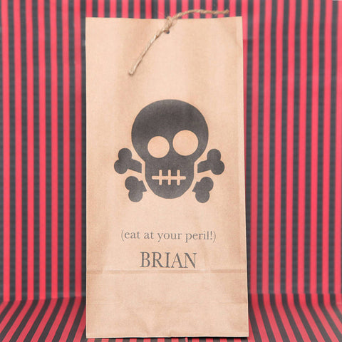 Personalised boy Skull Party Bags