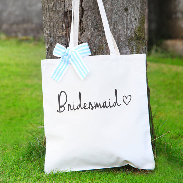 Personalised Bridal Cotton Shopper Bag