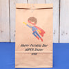 Personalised Fathers Day Superhero Gift Bag