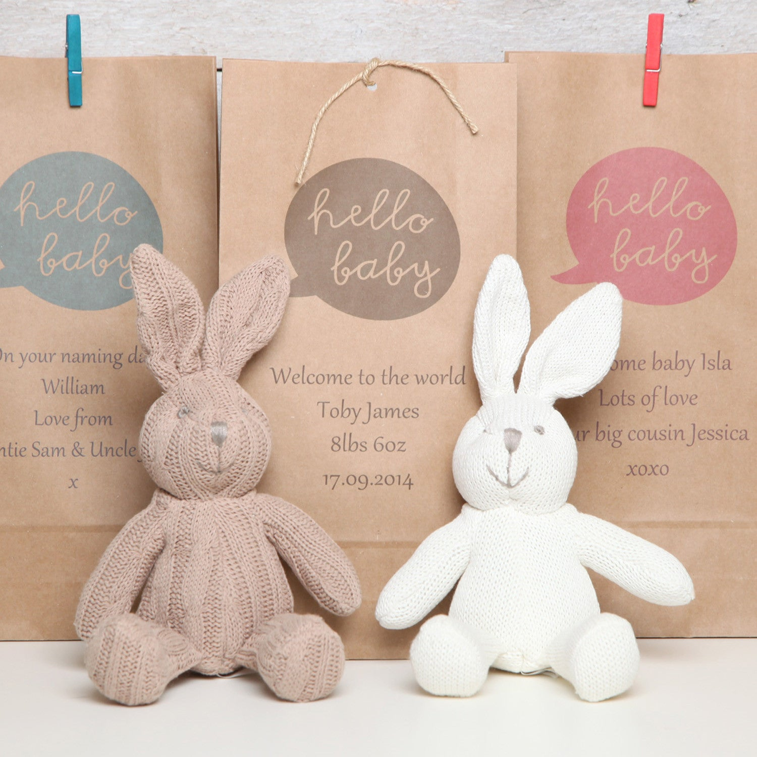 Bunny rabbit rattle with personalised gift bag red berry apple bunny rabbit rattle with personalised gift bag negle Image collections