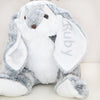 Personalised Grey Plush Bunny Rabbit
