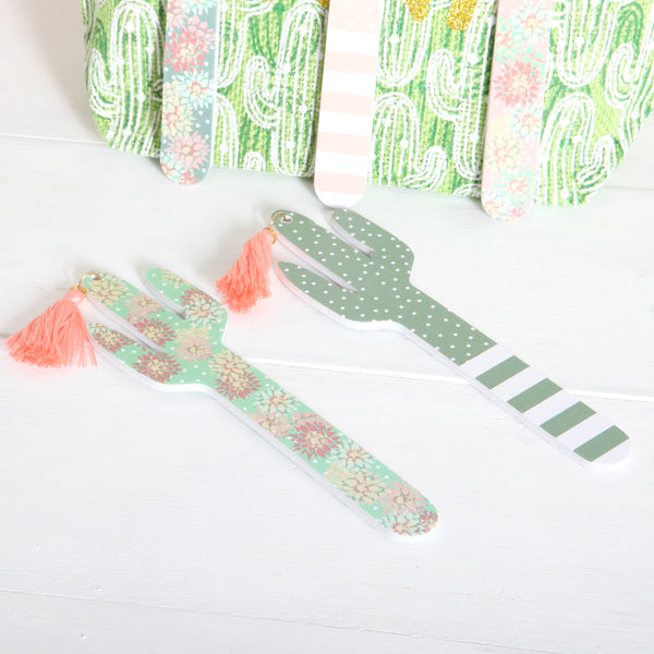 Cactus Emery Board With Tassel