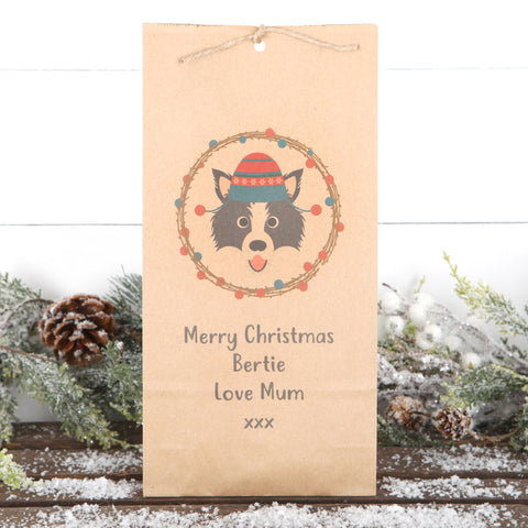Personalised For The Dog Christmas Gift Bag