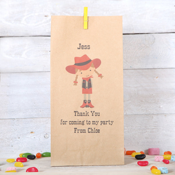 Personalised Cowgirl Party Bags