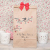 Personalised Red Cherry Blossom Tree Gift Bag