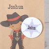 Personalised Cowboy Party Bags, Dark