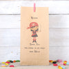 Personalised Girl Pirate Party Bags, Dark